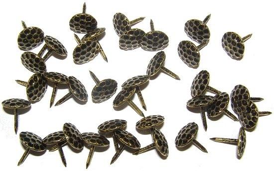 Polsternagel Ziernägel bronze gehämmert Ø 12 mm Länge 15 mm Polsternägel Nagel