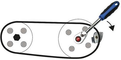 Aufziehen von selbstspannenden Keilriemen 1 Stück Keilriemen Montagekeil  Ab